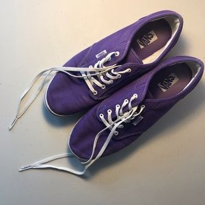 Purple women's size 10 Vans, good condition.